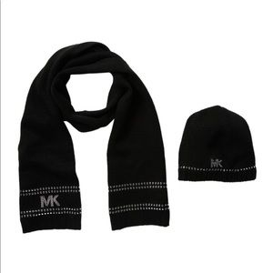 Michael Kors Scarf Hat Black Studded
